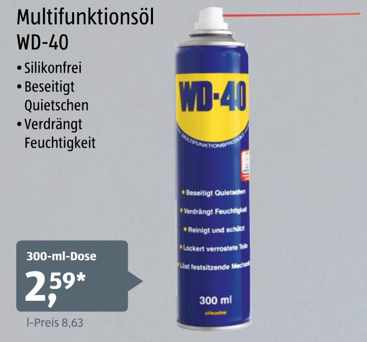 WD-40 300ml Dose für 2,59€ ab 22.09.2016 [Aldi-Süd]