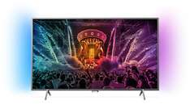 Philips 55PUS6401 Fernseher 139 cm (55 Zoll) 4K Ultra HD LED-TV mit HDR, Quad Core, 8 GB, 2-seitiges Ambilight, Triple Tuner, Smart TV für 7