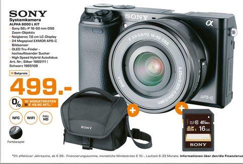 Sony Alpha 6000 + Sony SEL 16-50mm KIT  - Lokal Hamburg