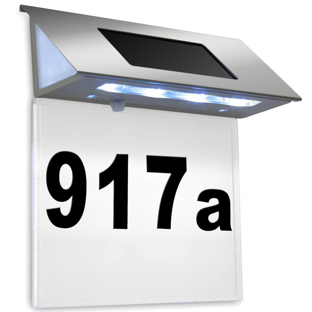 Solar Hausnummer Beleuchtung Edelstahl Design LED nur 9,95€ statt 15€