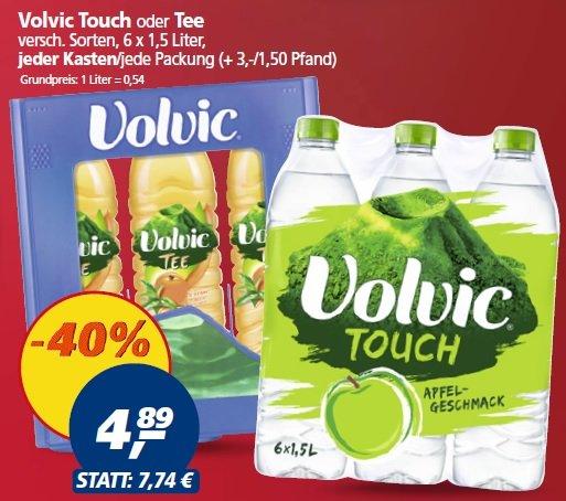 [Lokal Dortmund-Oespel] Real Volvic 6 x 1,5 Liter Touch oder Tee verschiedene Sorten für 4,89 € + 3,00 € Pfand