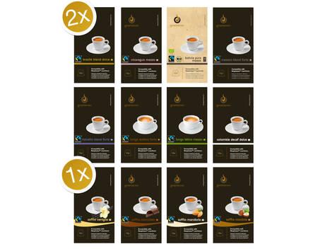 GOURMESSO Probierbox mit 200 Kaffeekapseln