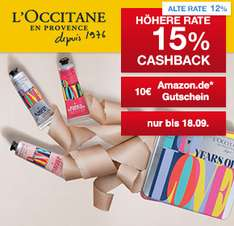 (Shoop) L'Occitane: 15% Cashback + 10€ Amazon.de Gutschein* + Kostenlose Flower-Box