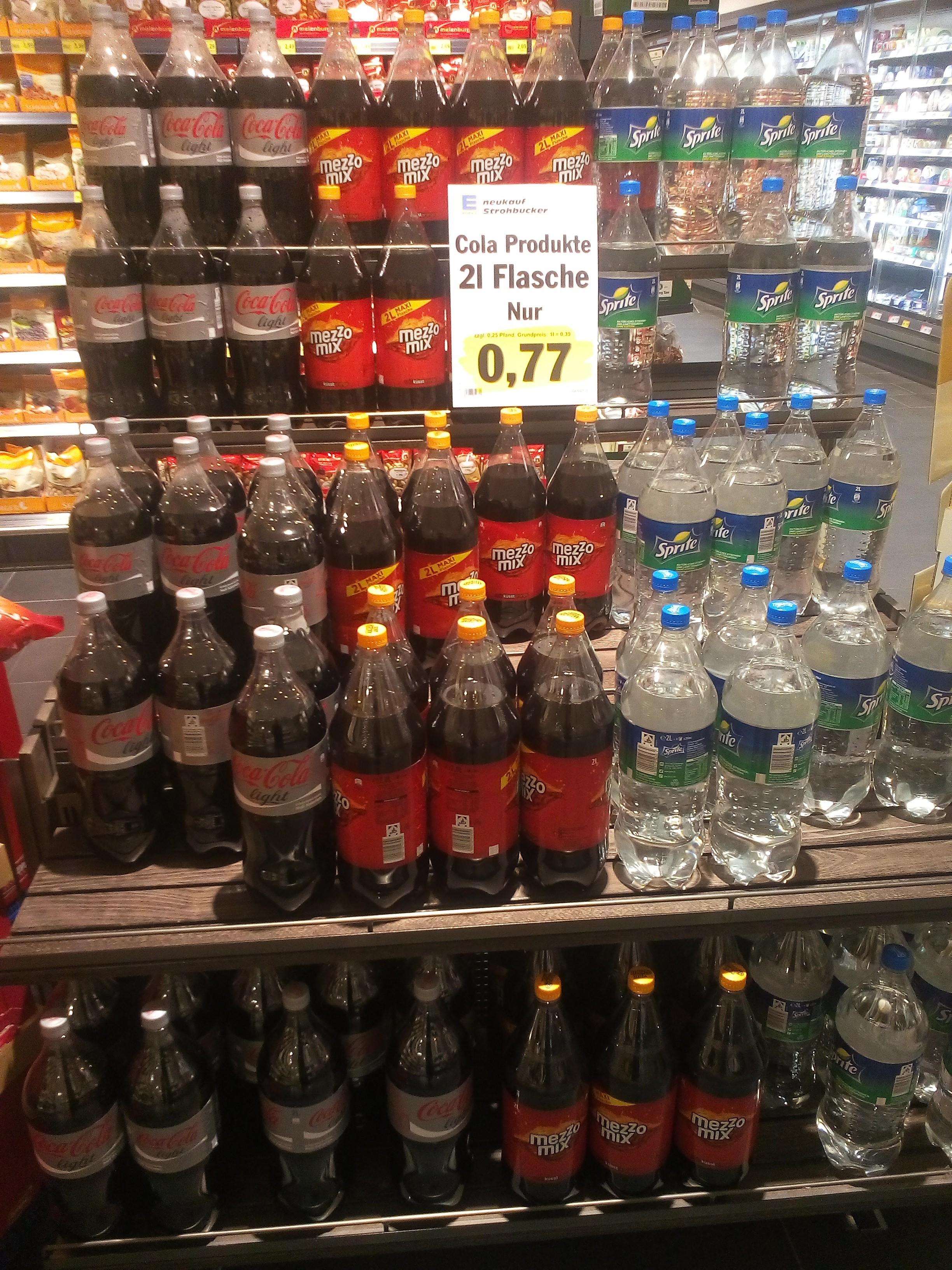 [Lokal Everswinkel] 2l Sprite, Mezzo Mix oder Coca Cola Light für 0,77€ bei Edeka Strohbücker (Literpreis 38,5 Cent!)
