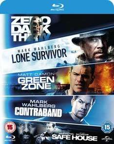 (Zavvi) Lone Survivor / Zero Dark Thirty / Safe House / Green Zone / Contraband (Blu-ray) für 12,29€ inkl. Versand