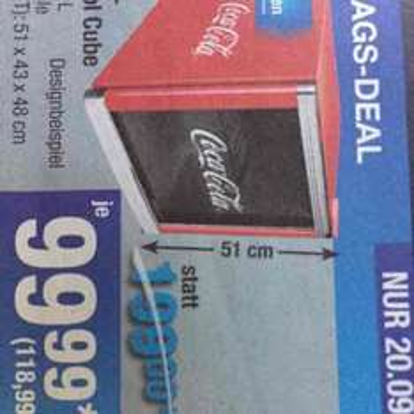 Metro Husky Glastürkühlschrank Coca-Cola 50l
