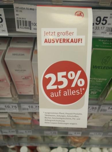 (lokal Berlin) Rossmann 25% auf alles 12.9-14.9
