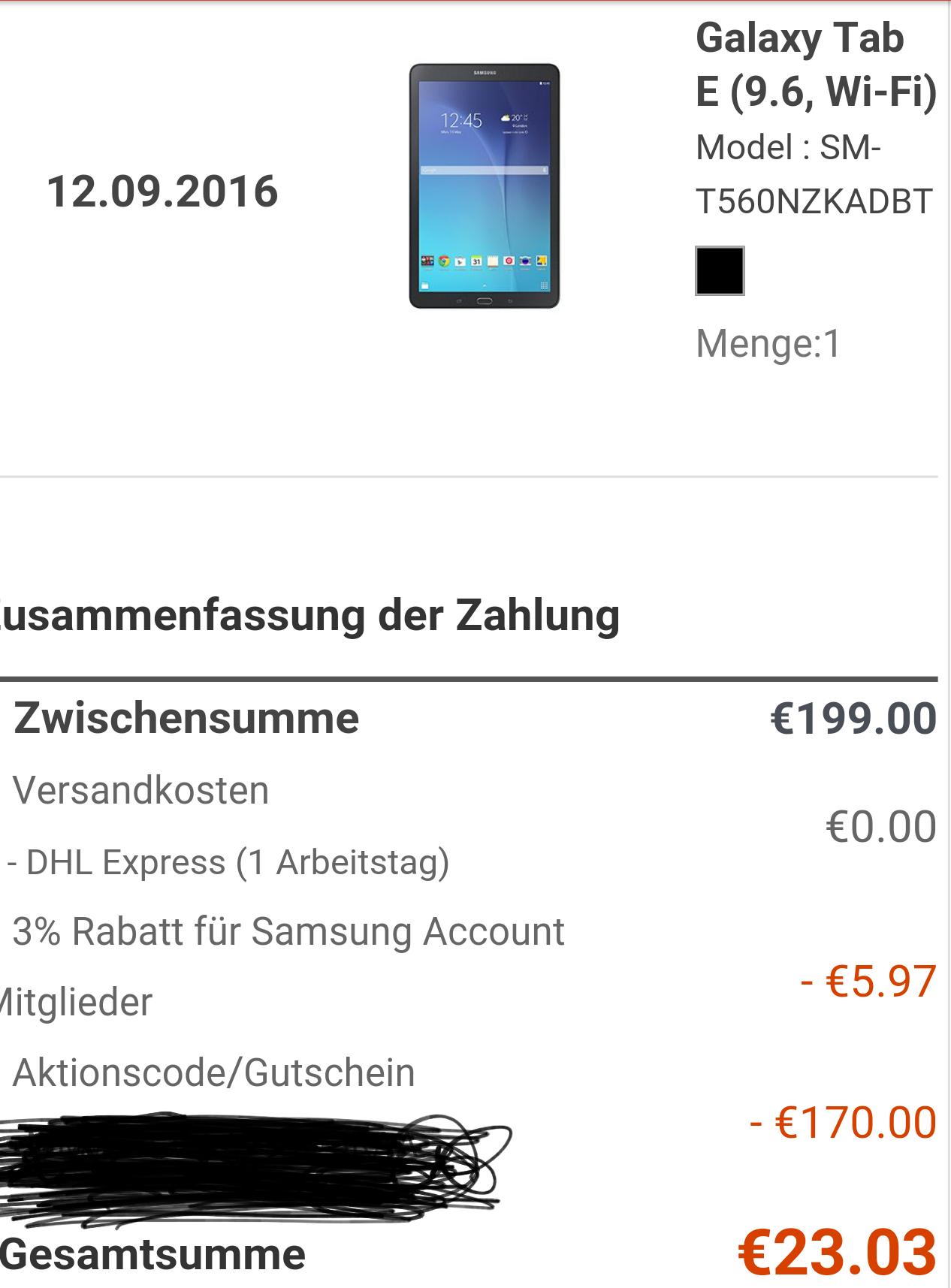 3% Extra auf die Samsung Galaxy S7 und S7 Edge Aktion - Doppelpack zum Saisonauftakt (Samsung Tab E)