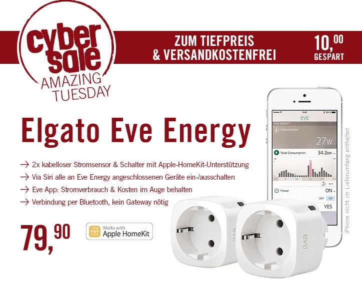 2x Elgato Eve Energy für 79,90€ bei Cyberport - funktioniert mit Apple Homekit