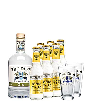 The Duke Munich Dry Gin mit FeverTree Tonic und Gläsern