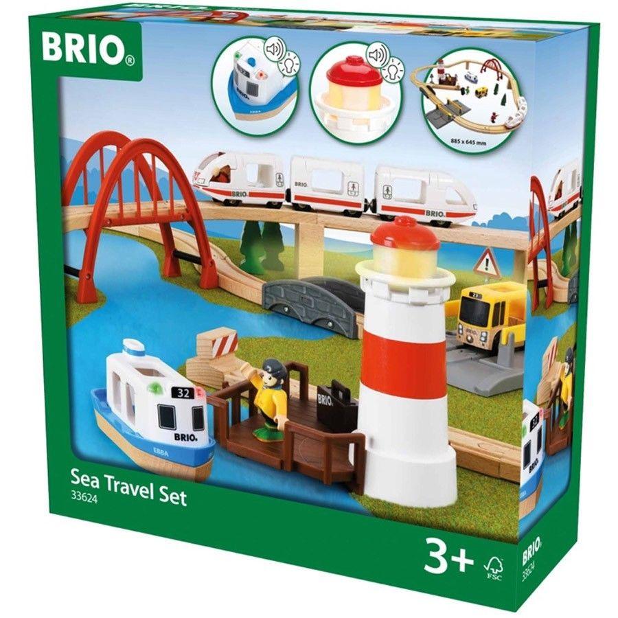 [Ebay] Brio Küsten-Set mit Leuchtturm, ICE, Boot uvm