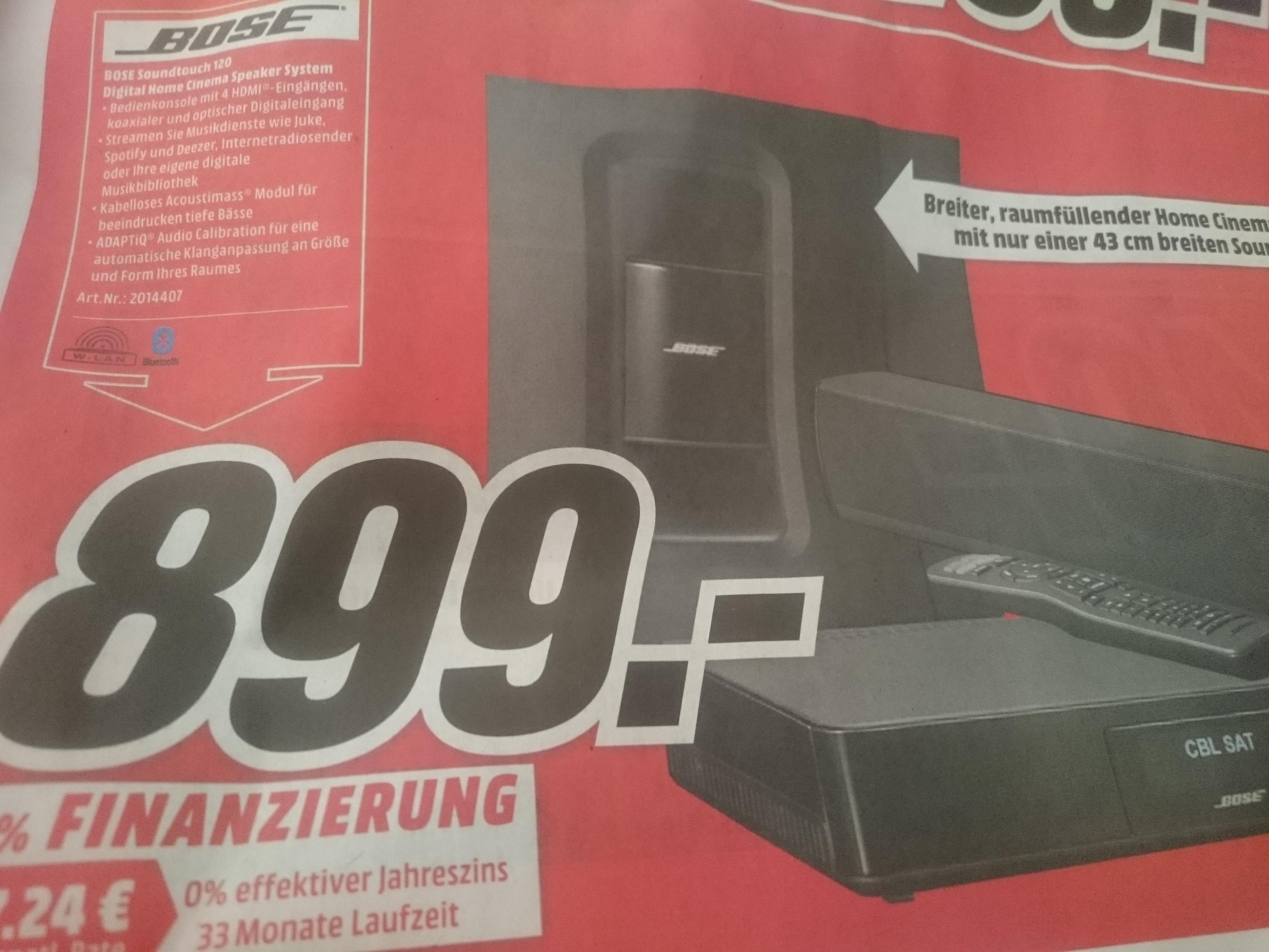 [lokal Mediamarkt Ingolstadt] Bose Soundtouch 120 für 899 €