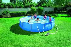 Amazon(Blitzangebot) - Bestway Frame Pool Steel Pro Set, 366 x 76 cm [Prime früher]
