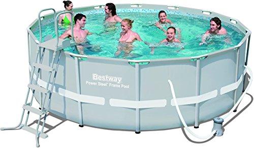 Amazon(Blitzangebot) - Bestway Frame Pool Power Steel Set, 427 x 122 cm [Prime früher]