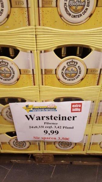 24 x 0.33 Warsteiner Kasten für 9.99 bei Edeka Wucherpfennig Hannover Ricklingen