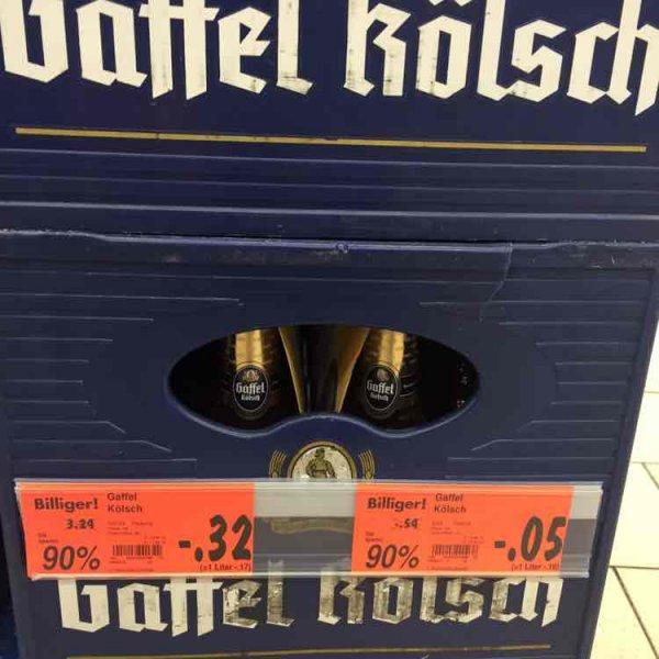 [Kaufland Berlin-Gesundbrunnen] Gaffel Kölsch für 5Cent pro Flasche