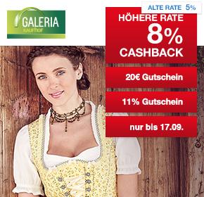 [Kaufhof]zusätzlich zu jeder Bestellung gibt es einen 20€ Galeria Kaufhof-Wertgutschein ab einem Einkaufswert ab 119€ zzgl 8% Cashback und Kombi aus weiteren Gutscheinen möglich über Shoop.de