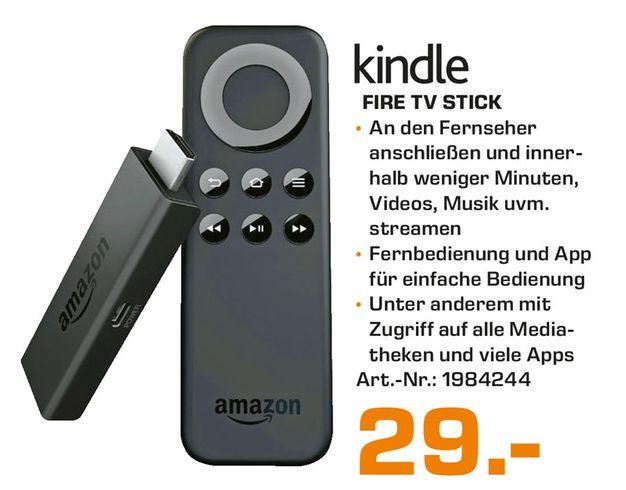 [Lokale Saturnmärkte Berlin und Umgebung ab 15.ten] Amazon Fire TV Stick für 29,-€