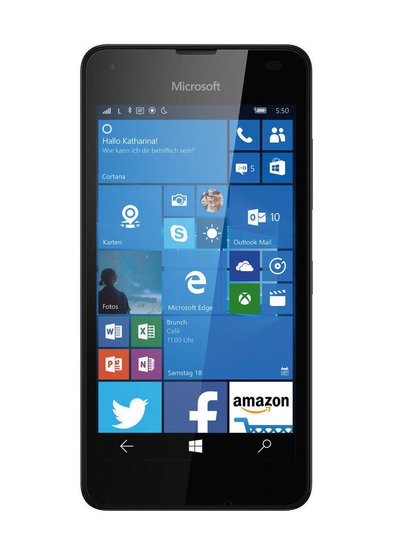 "eBay wow - Microsoft Lumia 550 Smartphone 11,94cm/4,7"" Windows 10 LTE 8GB Quad-Core schwarz"