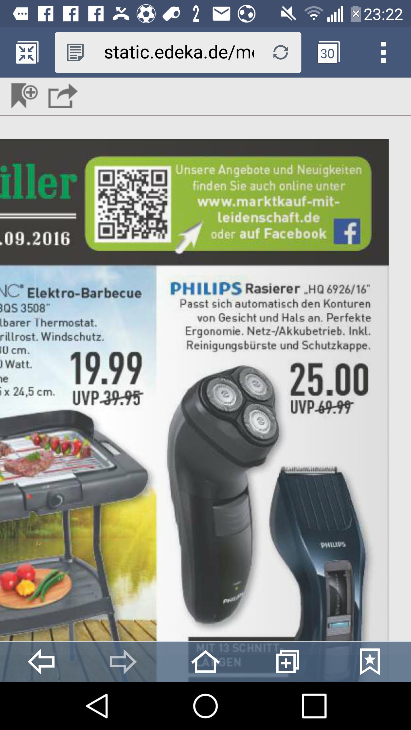 Philips HQ 6926 Markenrasierer ab Donnerstag (15.09) im Marktkauf zum Bestpreis. (offline)