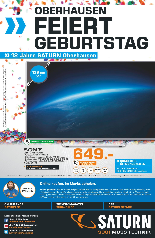 """[SATURN Oberhausen] Sony KDL 55"""" W807"""