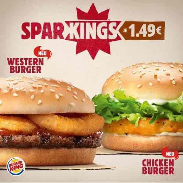 Burger King Angebot / Chicken Burger & Western Burger 1,49€