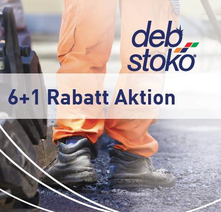 6+1 Rabatt Aktion bei Deb-STOKO® Handelspartnern