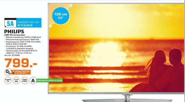 Philips 55 PUS 6551 | 4K, 100Hz(nativ), (fake)HDR