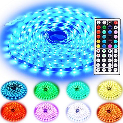 Günstigstes 10m (am Stück) LED Band mit 5050LEDs, Netzteil und 44 Tasten Fernbedienung