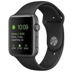 Apple Watch Sport Aluminium Spacegrau 42mm für 249€, 38mm für 199€ (Telekom)
