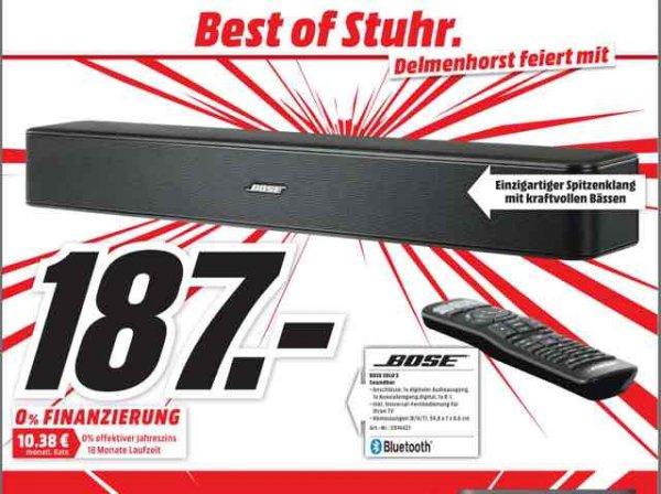 [Lokal Media Markt Stuhr und Delmenhorst] Soundbar Bose Solo 5 für 187€