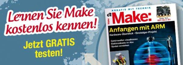 make Magazin gratis testen (Kündigung notwendig)