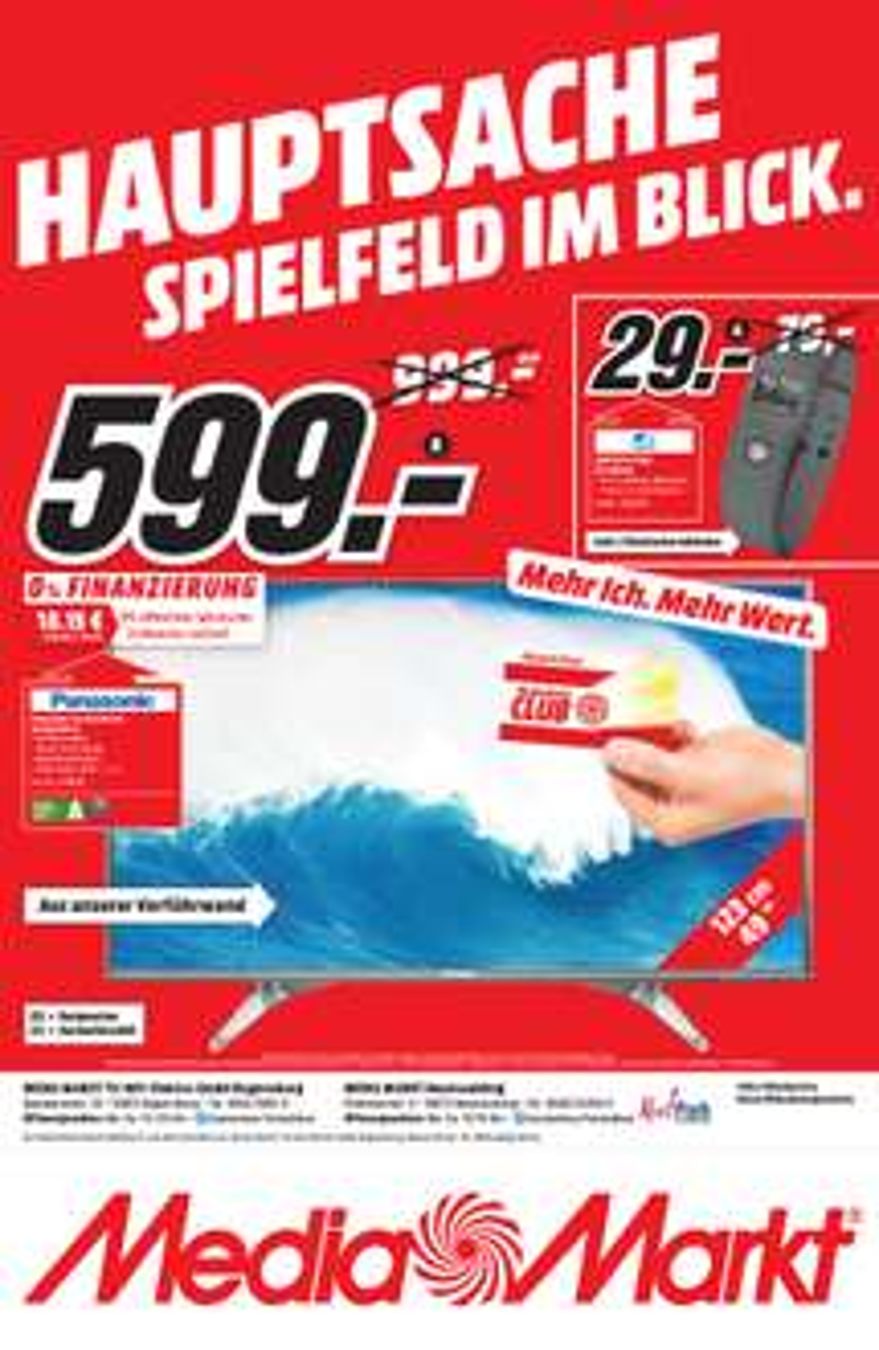 [LOKAL MM Regensburg] Panasonic TX 49DXW604 für 599,00 € (idealo: 742,90)