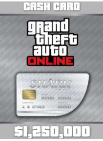 GTA Online: Great White Shark Cash Card - 1.250.000$ (PC)
