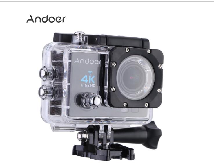 Andoer: Action Cam, HD Bild und Videoaufnahmen, Wasserdicht + XXL Zubehör Paket