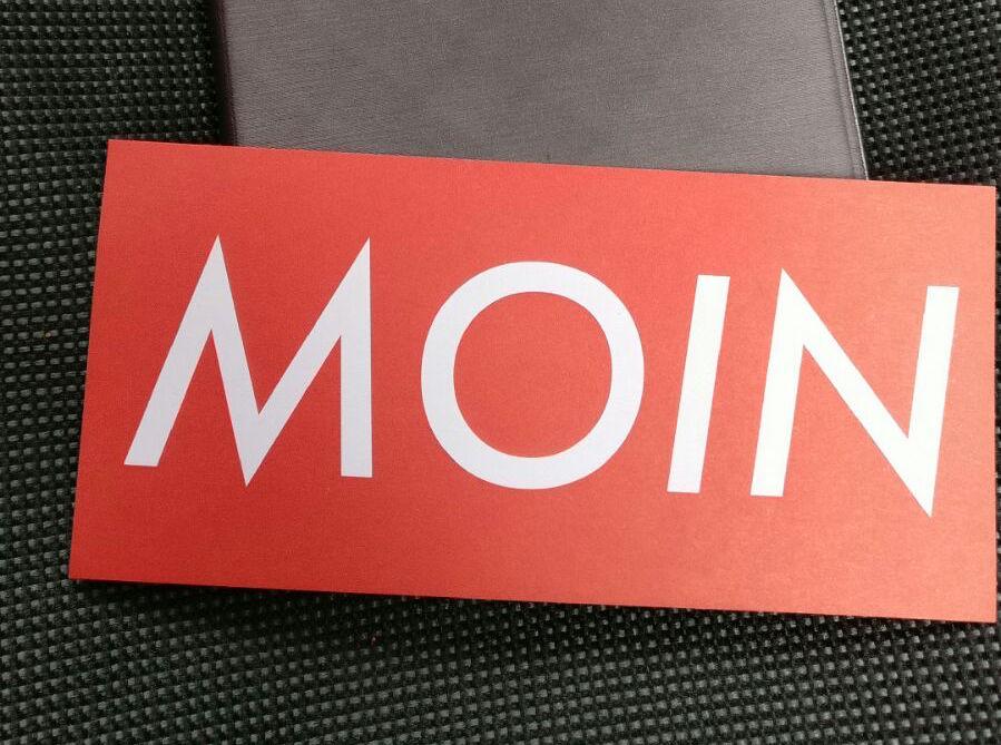 Sticker umsonst mit Moin Label