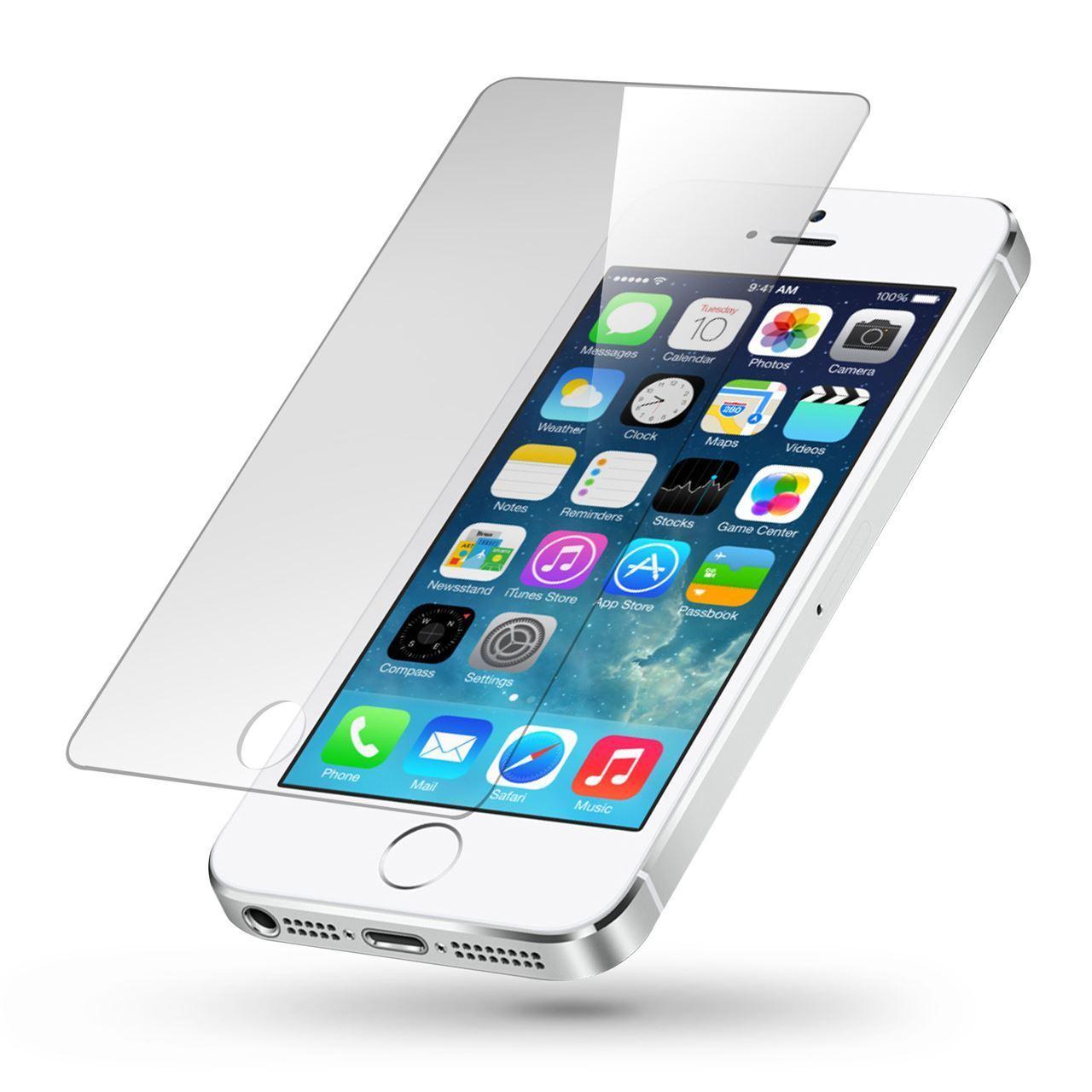 iPhone 5/5S und SE Panzerglas 9H Schutzglas Schutzfolie Panzerfolie - Angebot -