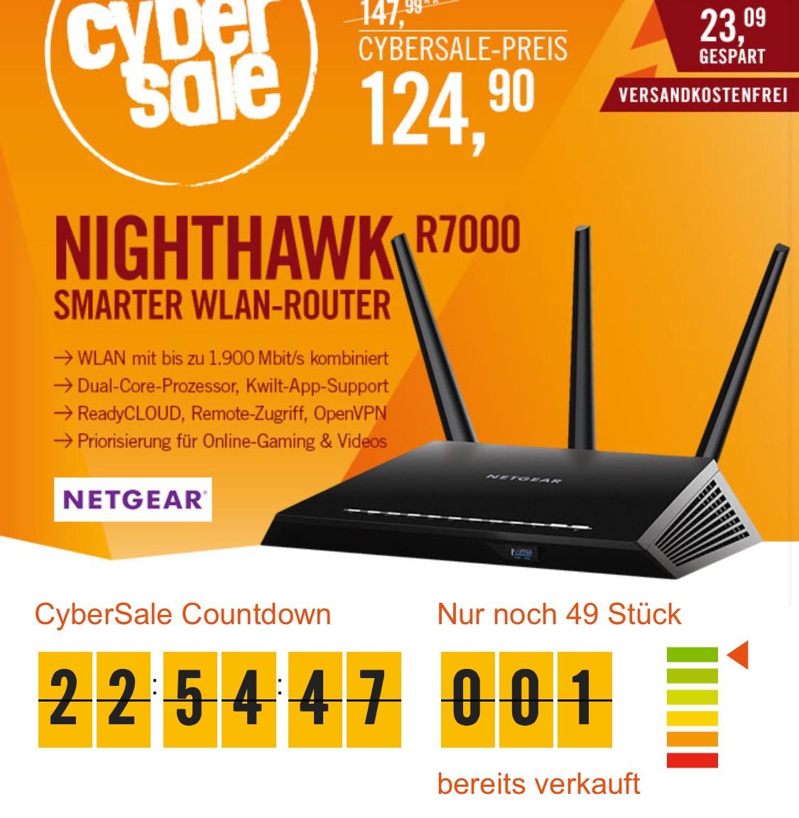 [cyberport.de] Netgear Nighthawk R7000 Wlan Router