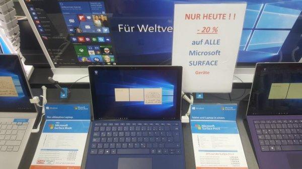 [MediaMarkt Köln HoheStr.] 20% auf alle Surface Geräte (Pro3,  Pro4, Book)