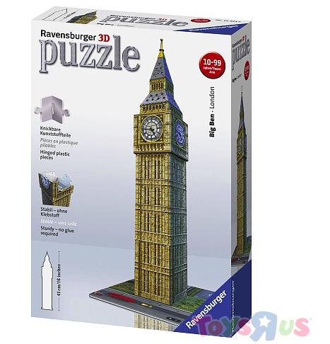 Ravensburger 3D Puzzles für 9,98€ + VSK bei [ToysRUs] z.b. Big Ben für 12,93€ inkl. VSK
