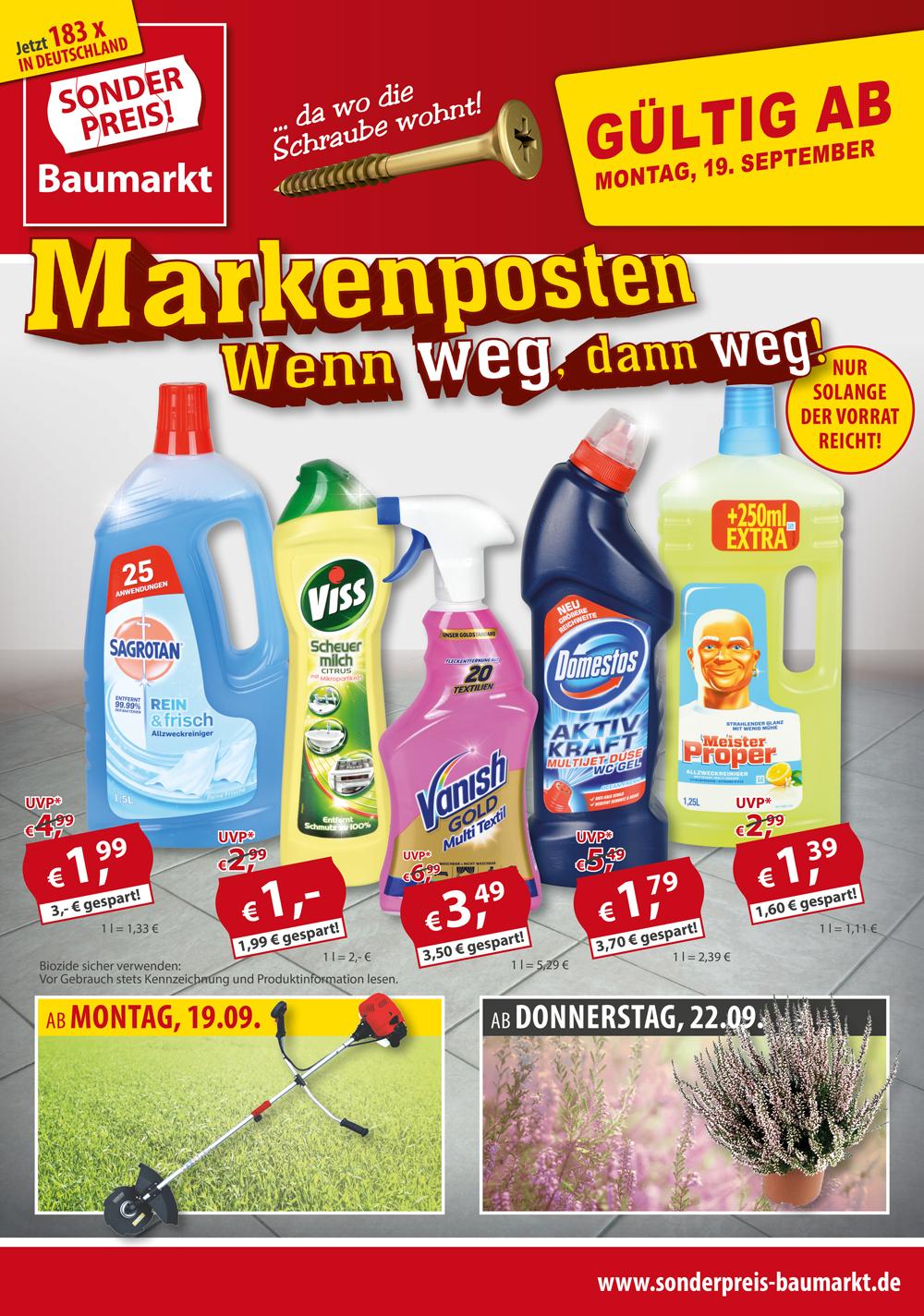 Offline bei Sonderpreis Baumarkt: Markendrogerieprodukte extrem günstig