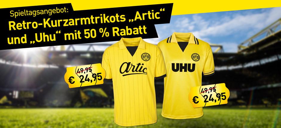 BVB Retro Kurzarmtrikots 24,95 € (statt 49,95 €) + 5 € Versand