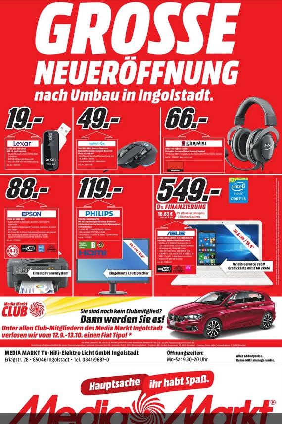 [lokal Ingolstadt] Logitech G502 Proteus Spectrum Maus für 49€ @ Media Markt