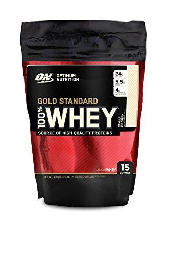 Optimum Nutrition Whey Gold Standard Protein, Vanilla, 1er Pack (1 x 450 g) AMAZON PLUS PRODUKT