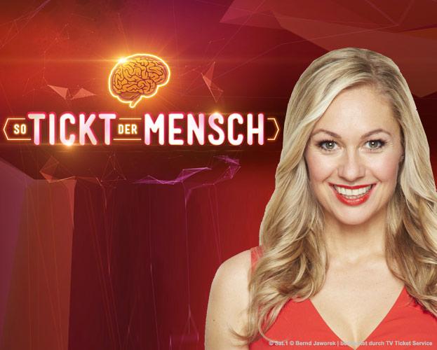 Gratis Ticket - So tickt der Mensch – die neue Panel-Show in SAT.1 (Ruth Moschner)