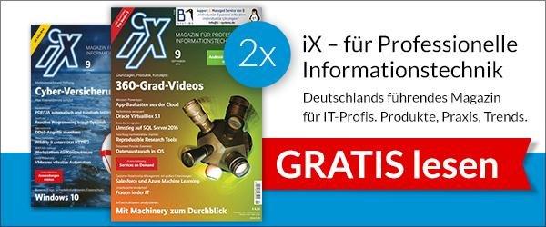 2 Ausgaben der ix kostenlos (nur noch digital)