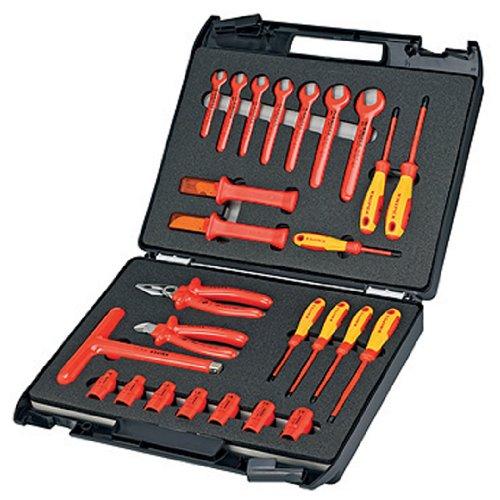 [Amazon.de] Noch ein Werkzeugkoffer: Knipex WZ KN 85 Standardkoffer 26-teilig mit isolierten Werkzeugen für 256,15€