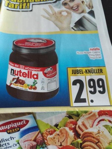 Edeka lechhausen Augsburg (lokal) Nutella 750g inkl Bahn coupon