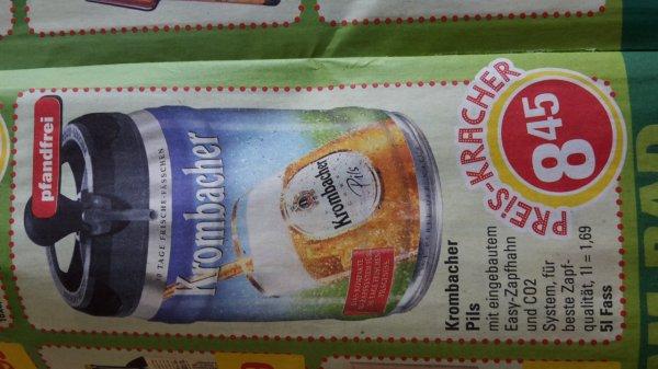 [Lokal Marktkauf MI/H] Krombacher Pils 5l Frischefässchen