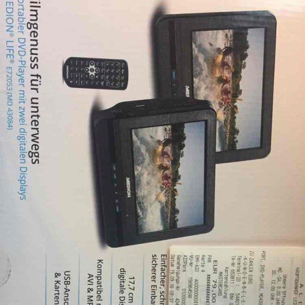 MEDION LIFE E72053 (MD 43084) portabler DVD-Player mit zwei 7-Zoll-Displays [Aldi Leipzig-Hbf]
